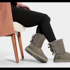 UGG Bailey Twinface Genuine Shearling & Bow